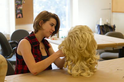 Abby Weaver designs a wig for Hairspray