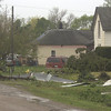 Matt Milner/CNHI for the Courier<br /> Residents woke to damage Sunday in Hedrick. Most homes, however, remained standing, and no injuries were reported.