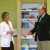 Mark Newman/The Couriier<br /> U.S. Congressman Dave Loebsack met Medical Office Support instructor Teresa Keck and other staff Monday at the Ottumwa Job Corps Center. It was Loebsack's first chance to visit the center since it opened.