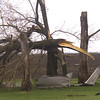 Hedrick officials say much of the debris from recent storms consists of wood and metal. Matt Milner/ CNHI for the Courier