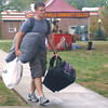 Jay Stookesberry drove in from Milton to start his second year at Indian Hills Community College. Sunday was the day students moved in floor lamps, recliners, mini-fridges and the other things that combine to make a dorm room home.