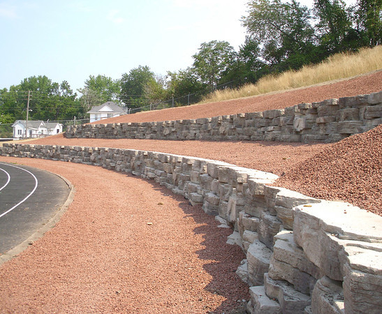 New retaining walls and other improvements should be obvious when visitors attend events at Schafer Stadium in Ottumwa.
