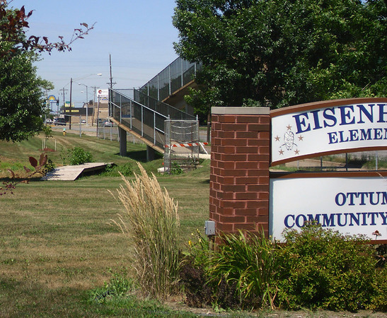 The bridge across the highway isn't safe, inpsectors say. And bus drivers are making changes so Eisenhower Elementary School children have options other than running across the highway to get to school.<br /> Mark