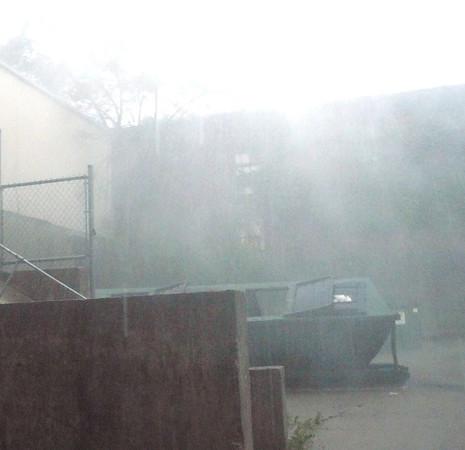 It is raining Saturday afternoon.