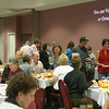 A fundraising dinner for the Ottumwa Community Outreach Ministry had over 100 people attend. The OCOM has a soup kitchen, a clothes closet, a thrift shop and a homeless shelter in downtown Ottumwa. <br /> Mark Newman/The Courier