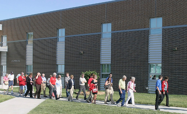 A mixer for Ottumwa Chamber of Commerce members turned into a group tour of the Ottumwa Job Corps Center. Chamber Director Terry McNit said between classwork, Job Corps students have become involved in community service efforts in town.