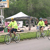"Cyclists head out early from Ottumwa Saturday heading toward Blakesburg as part of the ""Ride with a Clown"" event sponsored by the Shriners."