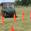 """Another Orange """"Pedestrian"""" Killed<br /> Iowa State Patrol Trooper Jim Karp gives intstruction to a student wearing """"beer goggles"""" so they see first-hand how drinking or texting effects their driving. The Region 15 Summer Youth Program strives to educate young people."""
