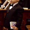Hayden Bowman, 4, is ready for his day in court.
