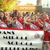 Ottumwa High School's homecoming parade featured students from every school in the district, including Evans Middle School cheerleaders.