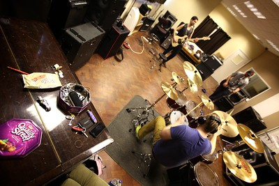Petrol Pony rehearsal Banbury, UK, October 2013
