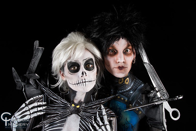 Jack Skellington/Artist: Jez Roberts/Model: Stephanie Faires Edward Scissorhands/Artist: Sammie Bartko/Model: James Christian Morris