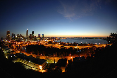 Perth Sunrise from Kings Park taken with Fisheye Lens