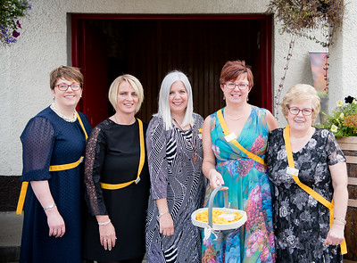 l-r Isla Campbell, Ceri Ewing, Jillian Wlker, Joan MacKintosh, Phyllis Bennet (Organisers of the 2018 ladies lunch for Marie Curie)  PHOTO BY JOHN PAUL PEEBLES OF ABRIGHTSIDE PHOTOGRAPHY