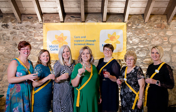 L-R Joan MacKintosh, Imogen Dalley, Jillian Walker, Kim Kennedy, Isla Campbell, Phyllis Bennett and Ceri Ewing organisers at the 2018 ladies lunch for Marie Curie)  PHOTO BY JOHN PAUL PEEBLES OF ABRIGHTSIDE PHOTOGRAPHY