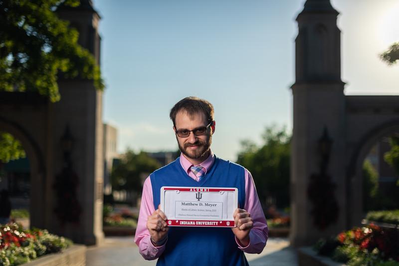 Graduation photoshoot of Matthew Meyer on Thursday, Jun. 25, 2020. (Photo/Alex Kumar)
