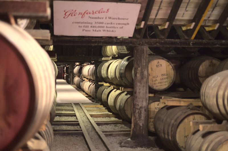 Dunnage warehouse at Glenfarclas distillery
