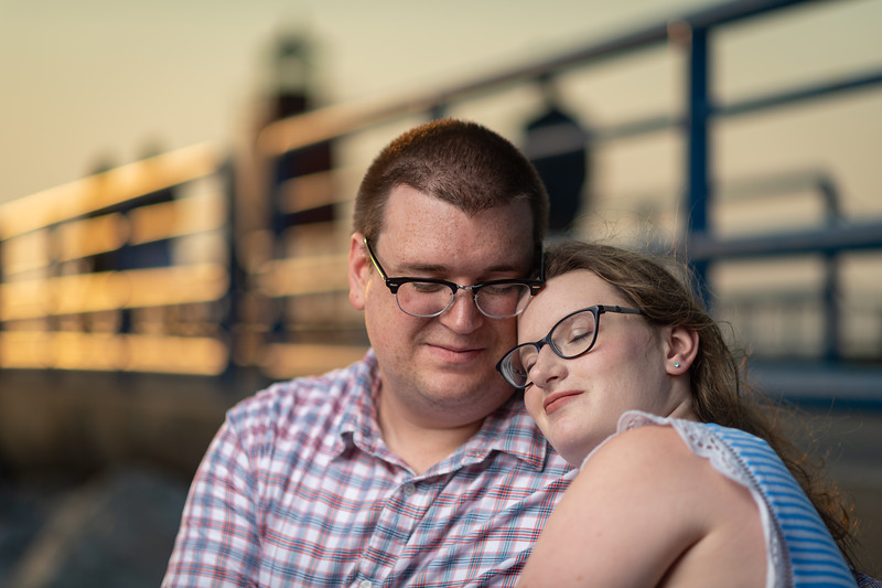 Steph and Neil engagement shoot on Saturday, Jul. 3, 2021 in Charlevoix, MI. (Photo/Alex Kumar)