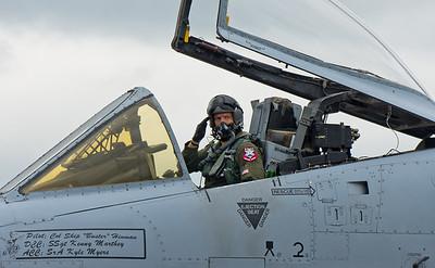A 10 Thunderbolt Pilot Salutes    Photography by Wayne Heim