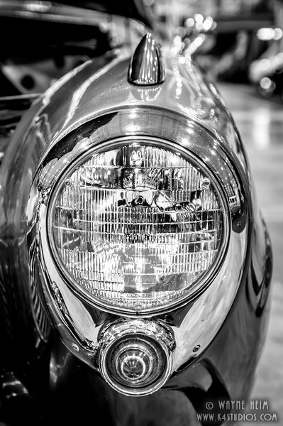 Headlight  Black and White Photography by Wayne Heim