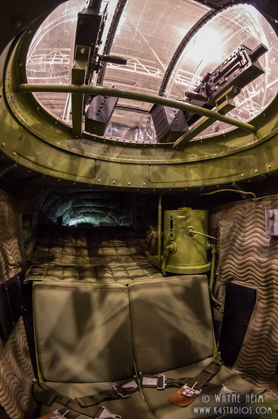 Seats in Gun Turret  Photography by Wayne Heim