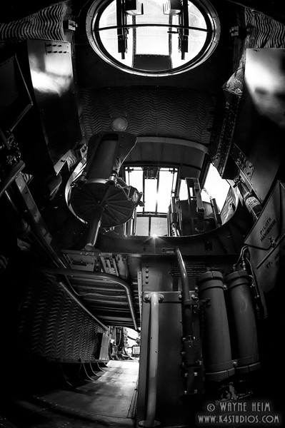 Inside Bomber  Black and White Photography by Wayne Heim