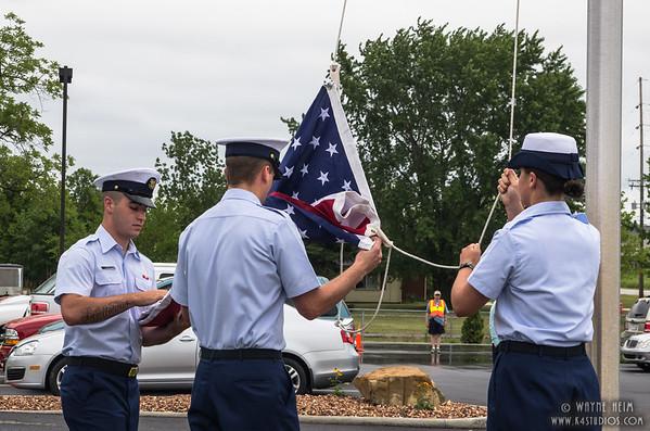 Flag Raising     Photography by Wayne Heim