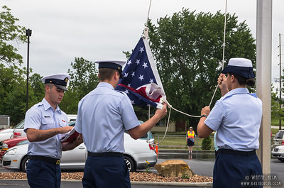 Flag Raising     Photography by Wayne Heim