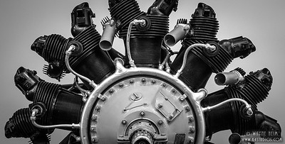 Motor Part    Black & White Photography by Wayne Heim