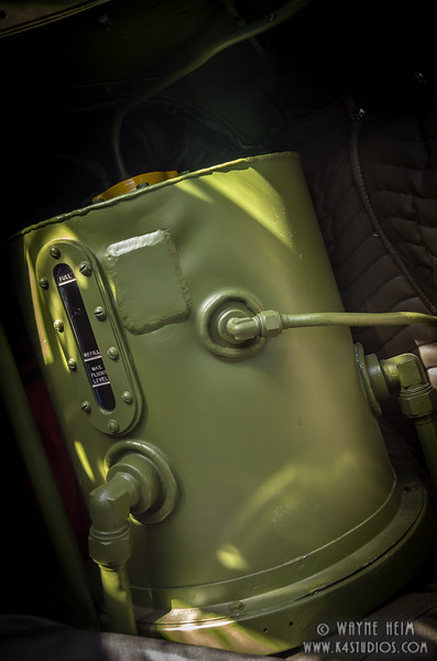 Oil Tank on Plane    Photography by Wayne Heim