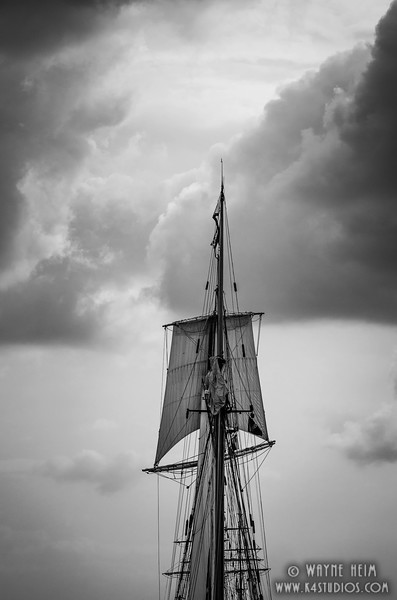 Mast Before the Storm   Black & White Photography by Wayne Heim