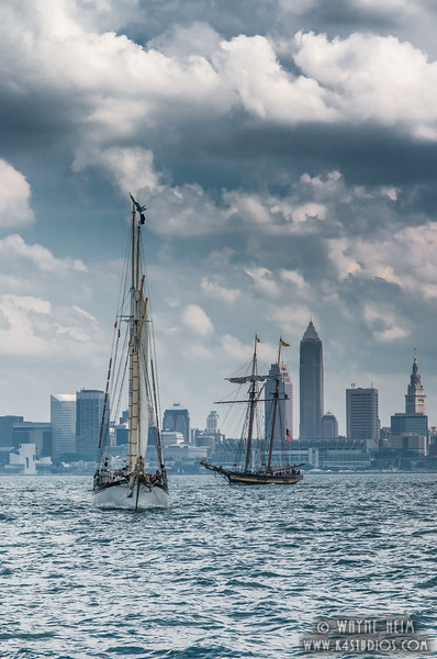 Sailing to Cleveland  Photography by Wayne Heim