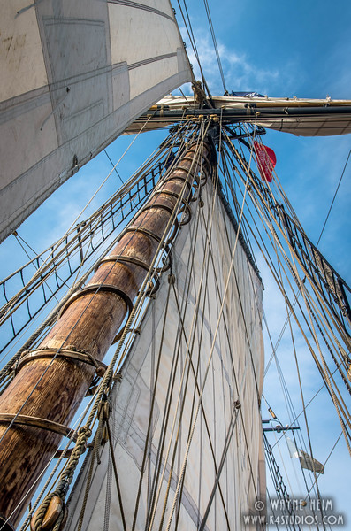 Up the Mast  Photography by Wayne Heim