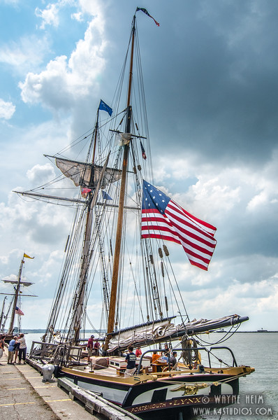 Old Glory on the Lynx    photography by Wayne Heim
