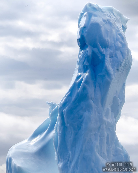 Blue Ice  Pillar     Photography by Wayne Heim