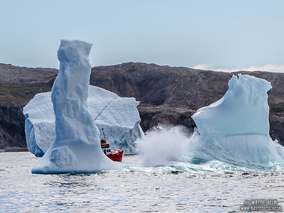 Going Through Icebergs  Photography by Wayne Heim