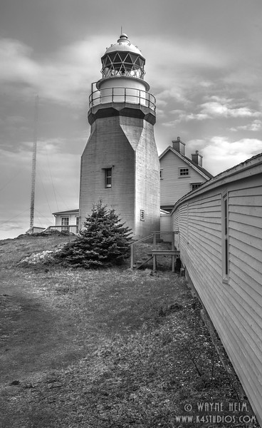 Newfoundland Lighthouse    Black and White Photography by Wayne Heim