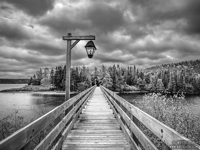 Bridge to Another Shore  Black and White Photography by Wayne Heim
