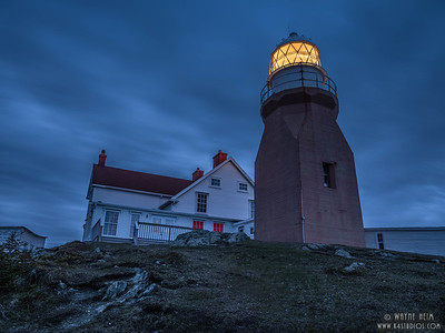 Lighthouse at Night  Photography by Wayne Heim