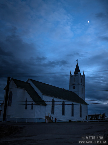 Church at Night   Photography by Wayne Heim