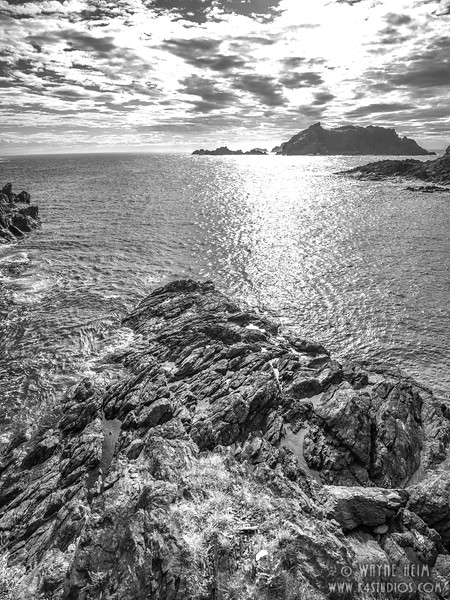 Off the Rocks  Black and White  Photography by Wayne Heim