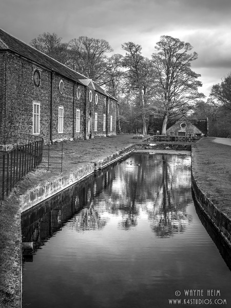 Canal Side     Black & White Photography by Wayne Heim