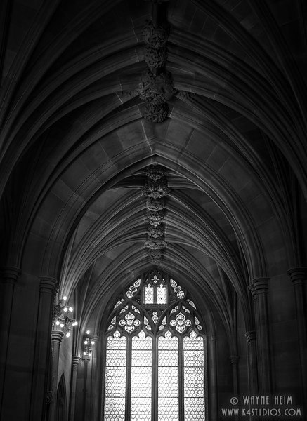 Window & Ceiling  in Black & White    Photography by Wayne Heim