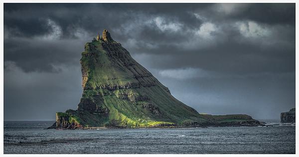 Tindholmur Islet off Faroe Islands