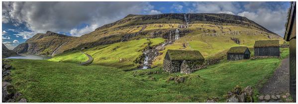 Waterfall in Faroe   Photography by Wayne Heim