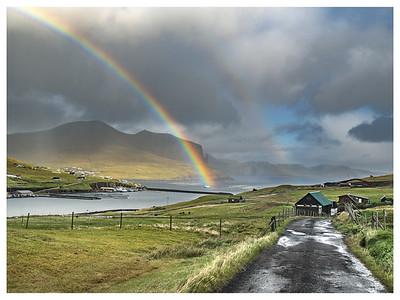 Rainbow on Faroe   Photography by Wayne Heim