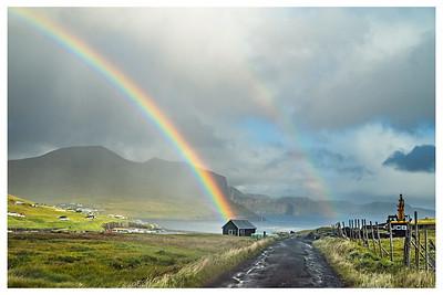 End of the Faroe Rainbow   Photography by Wayne Heim