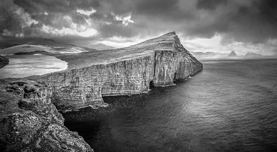 Faroe Coast 14    Black and White Photography by Wayne Heim