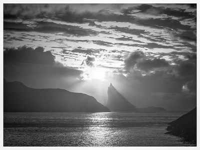 Faroe Coast  17    Black and White Photography by Wayne Heim