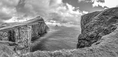 Faroe Coast 13     Black and White Photography by Wayne Heim